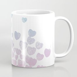 Hearts falling ombre blue and pastel pink cotton candy wonderland Coffee Mug