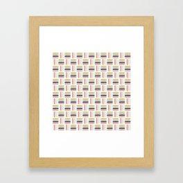 AFE Modern Basket Weave Framed Art Print