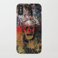 fear iPhone & iPod Cases featuring FEAR by sametsevincer