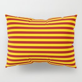 Cardinal and Gold Horizontal Stripes Pillow Sham