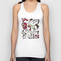 invader zim Tank Tops featuring Dress up Zim by Hoborobo