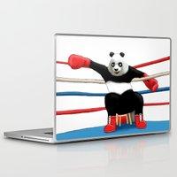 boxing Laptop & iPad Skins featuring Boxing Panda by Joker-laugh