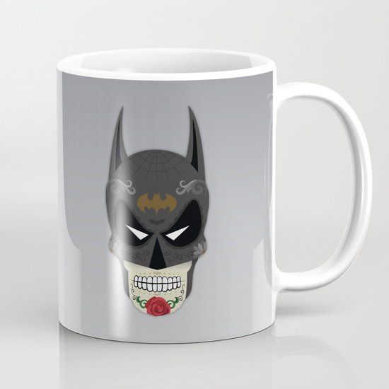 Bat-Man Sugar Skull Coffee Mug