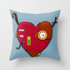 Robot Heart Throw Pillow