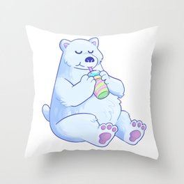 Polar Bear Slush Throw Pillow
