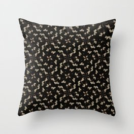 Abstract black and gold design Throw Pillow
