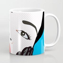 Beautiful Pop Art Woman Portrait Coffee Mug
