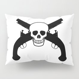 Skull And Pistols Pillow Sham