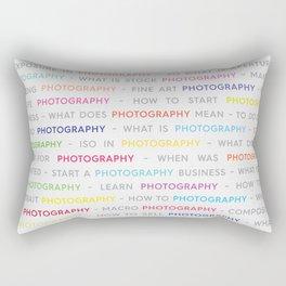 Colored Photography Keywords Marketing Concept Rectangular Pillow