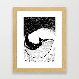 Here goes the Black Whale Framed Art Print