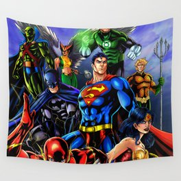 heroes all Wall Tapestry
