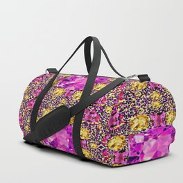 BEAUTIFUL FACETED PINK SAPPHIRES & CITRINES GEMS ART Duffle Bag