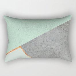 MINT COPPER GRAY GEOMETRIC PATTERN Rectangular Pillow