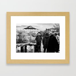 Man and Mountain Framed Art Print