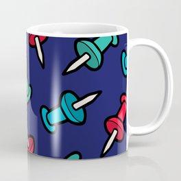 Map Tacks Pattern Coffee Mug