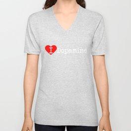 I Heart Dopamine   Love Dopamine Unisex V-Neck