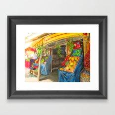 At the Market Framed Art Print