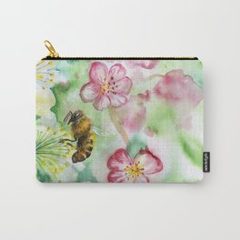 Spring flowers and bee Carry-All Pouch