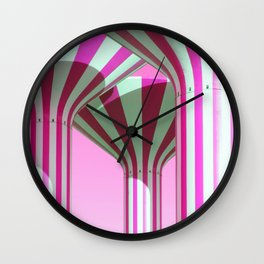 Pink Water Towers Wall Clock