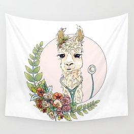 Healthcare Llama Wall Tapestry
