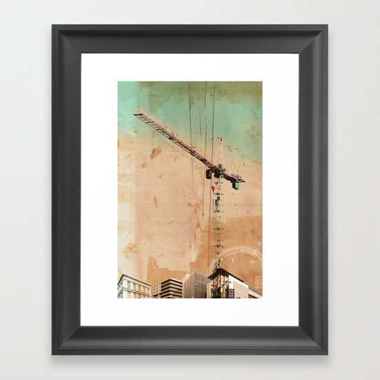 The Crane Framed Art Print