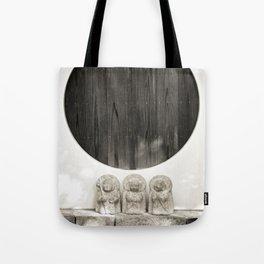 Jizo in Black and White, Kyoto Tote Bag
