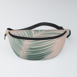 Soft Green Palm Leaves Dream - Cali Summer Vibes #1 #tropical #decor #art #society6 Fanny Pack