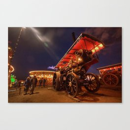 Showmans Engine at Nightime  Canvas Print