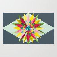 pantone Area & Throw Rugs featuring Pantone Mandala by Brandon Harmon Design