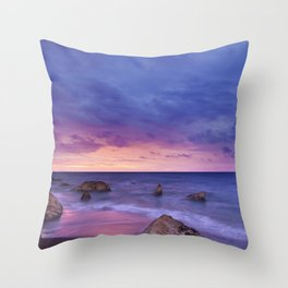 Ocean Beach Dusk Sunset Photography Throw Pillow