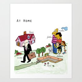 At home Art Print