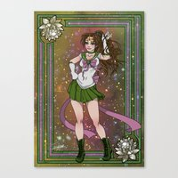 sailor jupiter Canvas Prints featuring Sailor Jupiter by Teo Hoble