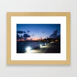 Mayan Riviera Dock Framed Art Print