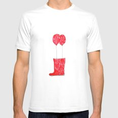 balloon boots MEDIUM White Mens Fitted Tee