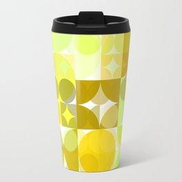 Pale Yellow Poinsettia 1 Abstract Circles 3 Travel Mug