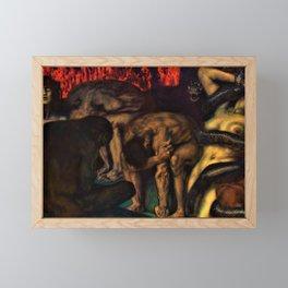 Franz von Stuck - Inferno - Digital Remastered Edition Framed Mini Art Print
