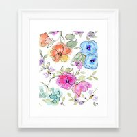 bees Framed Art Prints featuring bees by Ariadne
