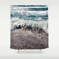 surf Shower Curtains featuring Surf by Art-Motiva