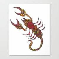 tatoo Canvas Prints featuring Tatoo Scorpion by PepperDsArt