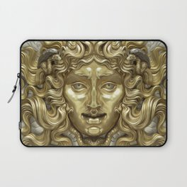"""Ancient Golden and Silver Medusa Myth"" Laptop Sleeve"