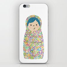 Rainbow Matryoshka Nesting Dolls iPhone & iPod Skin