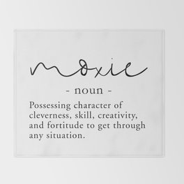 Moxie Definition - Minimalist Black Throw Blanket