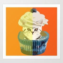 Cupcake Surprise Art Print