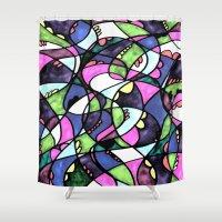 wonderland Shower Curtains featuring WONDERLAND by JESSIE WEITZ