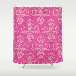 Pink Vintage Damask Shower Curtain