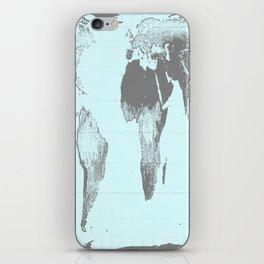 World Map : Gall Peters Aqua iPhone Skin