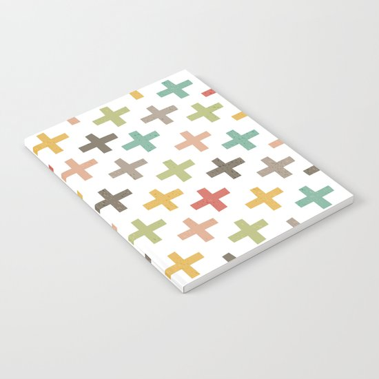 HIPSTER CROSSES PATTERN Notebook