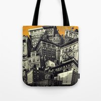 cityscape Tote Bags featuring Cityscape by Chris Lord