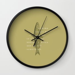 P + R Fishing Wall Clock