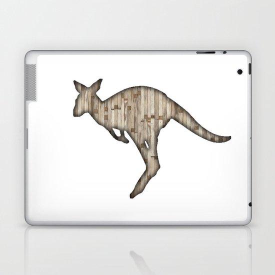 wooden kangaroo Laptop & iPad Skin